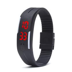 LED Armbandsklocka - Svart Svart one size