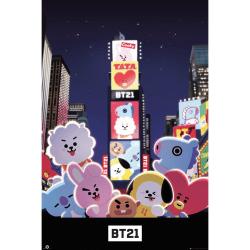 Maxi Poster, BT21 - Times Square multifärg