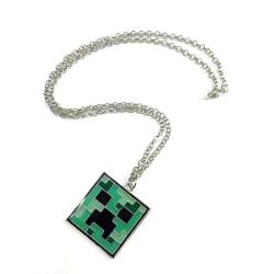 Minecraft Halsband - Creeper Grön