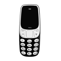 Mini Mobiltelefon med Dual SIM Svart