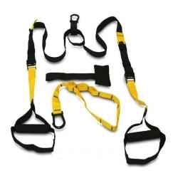 Multitrainer Gymband / Träningsrep med Tre Delar Svart och Gul
