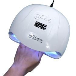Nageltork med LED lampa - SUN X5 Plus Vit