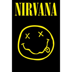 Nirvana, Maxi Poster - Smiley Svart