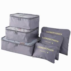 Organiseringsset för Resväskor - Grå grå