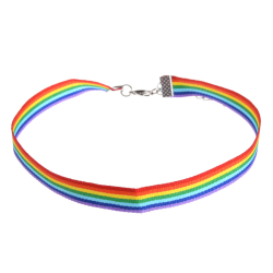 Pride Choker Halsband - Regnbåge multifärg one size