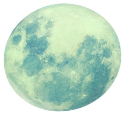 Självlysande Klistermärke - Måne Grön