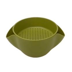 Skål / Durkslag Kombination - Grön, S Grön