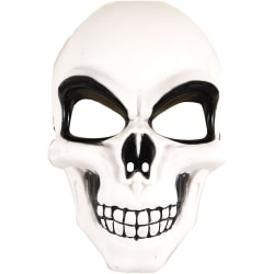 Skelettmask, Maskerad - Halloween Vit, svart