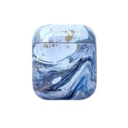 Skyddsfodral till AirPods - Blå Marmor Blå