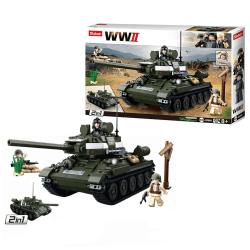 Sluban WWII, Byggsats - Allied Tank T-34/85 multifärg