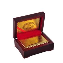 Spelkort i Låda - Kortlek i 24K Guldplätering Guld