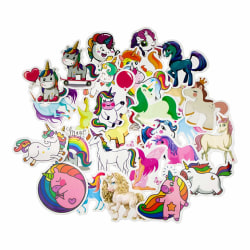 Storpack Klistermärken och Dekaler - Unicorn #2 multifärg