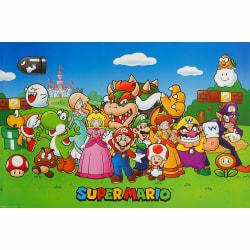 Super Mario, Maxi Poster - Gruppbild multifärg