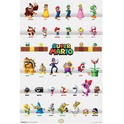 Super Mario, Maxi Poster - Karaktärer multifärg