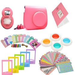Tillbehörsset för Fujifilm Instax Mini 8 / 9 - Flamingo Pink Rosa