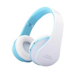 Trådlösa Hörlurar med Mikrofon och Aux Kabel - Blå Blå