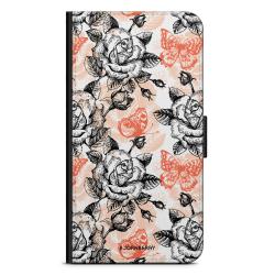 Bjornberry Fodral Motorola Moto G6 Plus - Fjärilar & Rosor
