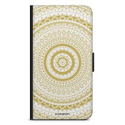 Bjornberry Fodral Samsung Galaxy A40 - Vit Guld Mandala
