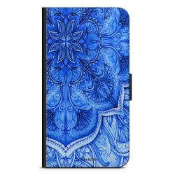 Bjornberry Fodral Samsung Galaxy A6+ (2018)-Blå Vintage