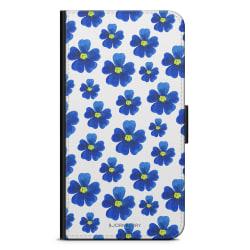 Bjornberry Fodral Samsung Galaxy Core Prime-Blå Blommor