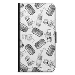 Bjornberry Fodral Samsung Galaxy J6 - Läsk Svartvit