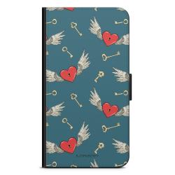 Bjornberry Fodral Samsung Galaxy S4 Mini - Hjärtan med Vingar