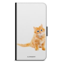 Bjornberry Fodral Samsung Galaxy S6 Edge+ - Liten Brun Katt