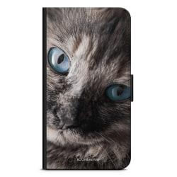Bjornberry Fodral Sony Xperia M4 Aqua - Katt Blå Ögon
