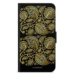 Bjornberry Fodral Sony Xperia XZ2 Compact - Guld Blommor