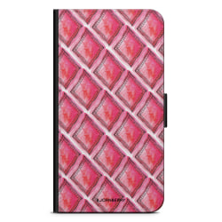 Bjornberry Huawei Mate 20 Lite Fodral - Röd Rhombus