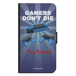 Bjornberry OnePlus 5T Plånboksfodral - Gamers Dont Die