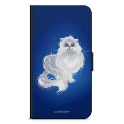Bjornberry OnePlus 5T Plånboksfodral - Vit Katt