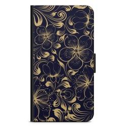 Bjornberry Plånboksfodral Huawei Honor 8 - Mörkblå Blommor
