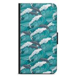 Bjornberry Plånboksfodral Huawei Honor 9 - Vågor & Delfiner