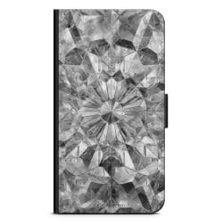Bjornberry Plånboksfodral Huawei Mate 9 - Grå Kristaller