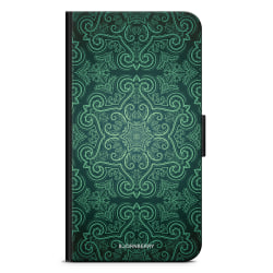 Bjornberry Plånboksfodral Huawei P40 Lite - Grön Retromönster