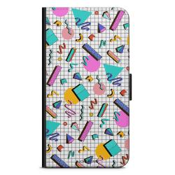 Bjornberry Plånboksfodral Huawei Y6 (2017)- 80-tals Mönster