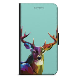 Bjornberry Plånboksfodral iPhone 11 Pro - Färgglad Hjort