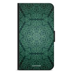 Bjornberry Plånboksfodral iPhone 12 - Grön Retromönster