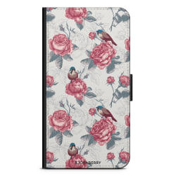 Bjornberry Plånboksfodral iPhone 12 - Rosor & Fåglar