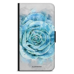 Bjornberry Plånboksfodral iPhone XR - Blå Kaktus
