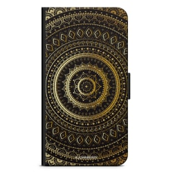 Bjornberry Plånboksfodral iPhone XR - Guld Mandala