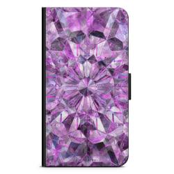 Bjornberry Plånboksfodral iPhone XR - Lila Kristaller