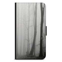 Bjornberry Plånboksfodral iPhone XR - Svart/Vit Höst