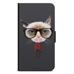 Bjornberry Plånboksfodral Moto G5 Plus - Hipster Katt