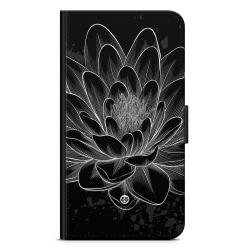 Bjornberry Plånboksfodral Moto G5 Plus - Svart/Vit Lotus