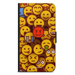 Bjornberry Plånboksfodral Motorola Moto G6 -Emojis