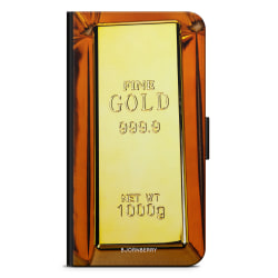 Bjornberry Plånboksfodral Nokia 6.1 - Guldtacka