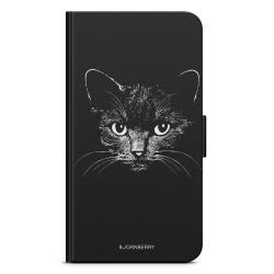 Bjornberry Plånboksfodral Nokia 6.1 - Svart/Vit Katt