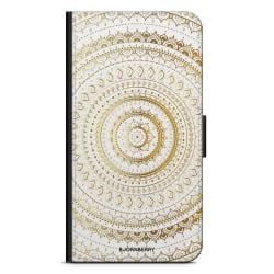 Bjornberry Plånboksfodral Nokia 7 Plus - Guld Mandala
